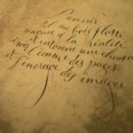 Anne Sacramento, calligraphie