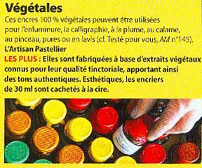 Les encres végétales de l'Artisan Pastellier